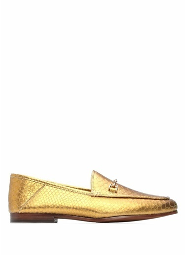 Edelman %100 Kadife Loafer Ayakkabı Altın